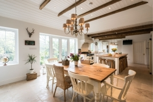 Bespoke traditional English kitchen space, hi end extension