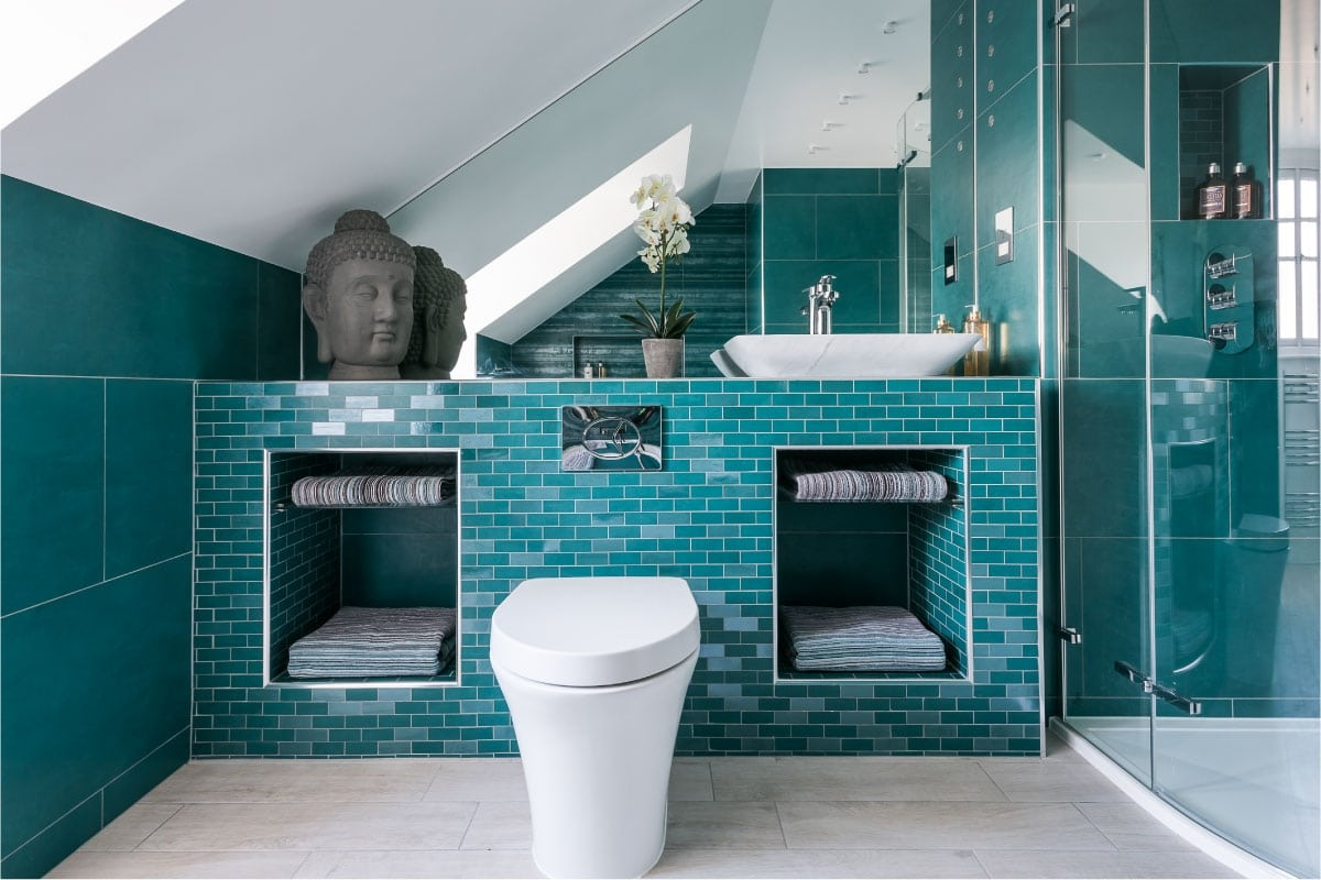bespoke modern bathroom, stylish bathroom, luxury bathroom