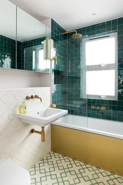 brass in bathroom