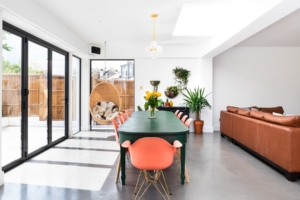 comfortable living, polished concrete, extension