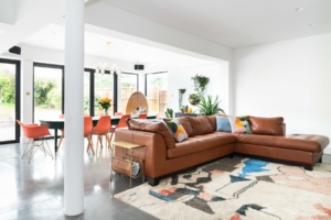 comfortable living, polished concrete, extension