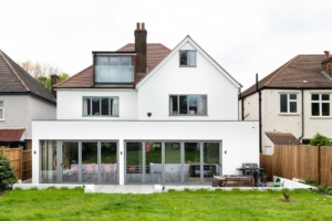 large detached house kitchen extension